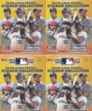 2020 Topps MLB Baseball Sticker Collection 40 ct. BLASTER BOX