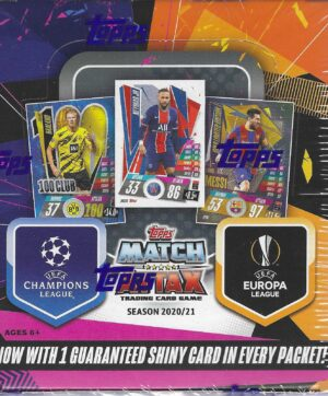 2020-21 Topps UEFA SOCCER Champions League Match Attax 180 Card DISPLAY BOX
