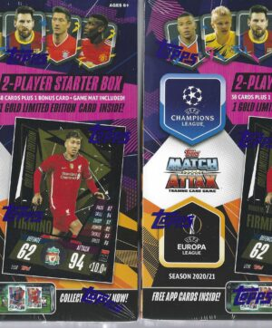 2020-21 Topps UEFA SOCCER Champions League Match Attax 39 Card STARTER DECK