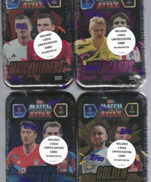 2020-21 Topps UEFA SOCCER Champions League Match Attax 60 Card TIN SET
