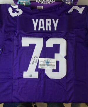 2020 Leaf Autographed Football Jersey RON YARY #73