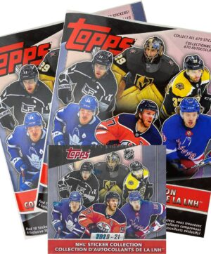2020-21 Topps NHL Hockey Sticker 50 Pack DISPLAY BOX + 2 FREE Albums (Auction)