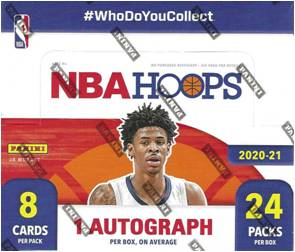 2020-21 Panini HOOPS Basketball NBA Trading Cards 24 Pack RETAIL BOX