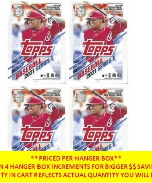 2021 Topps Series 1 Baseball MLB New, Sealed 67 Card HANGER BOX