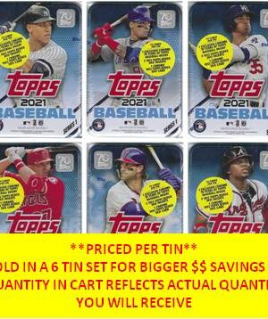 2021 Topps Series 1 Baseball MLB Trading Cards New, Sealed 75 Card TIN
