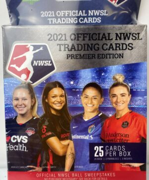 2021 Parkside National Womens Soccer League NWSL Premier Edition 25 Ct. Official Trading Card HANGER BOX