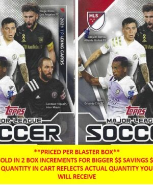 2021 Topps Major League Soccer MLS 48 Ct. VALUE/BLASTER BOX