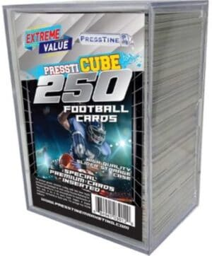 2021 PMI NFL Football Trading Cards New Sealed 250 Ct. Card Cube