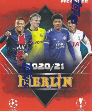 2020-21 Topps UEFA Champions League Merlin Collection Soccer 31ct. BLASTER BOX (Auction)